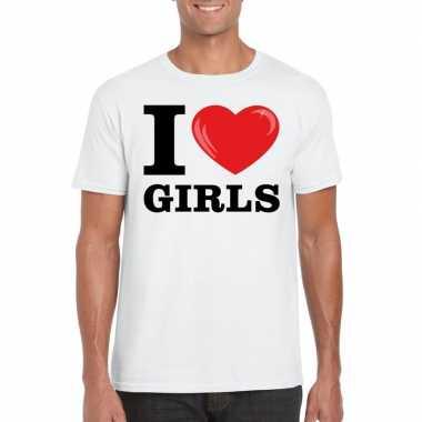 I love girls t-shirt wit heren