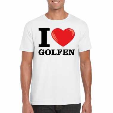 I love golfen t-shirt wit heren
