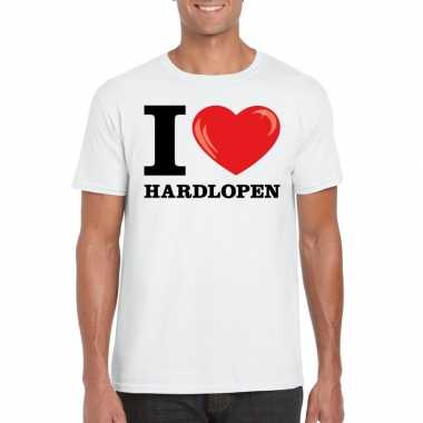 I love hardlopen t-shirt wit heren