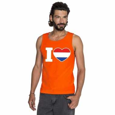I love holland singlet oranje heren