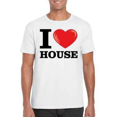 I love house t-shirt wit heren