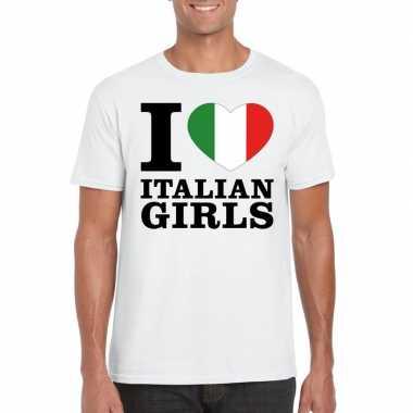 I love italian girls vakantie t-shirt italie heren