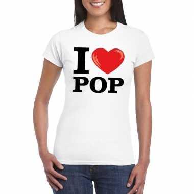I love pop t-shirt wit dames