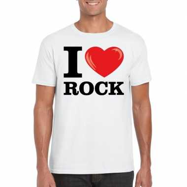 I love rock t-shirt wit heren