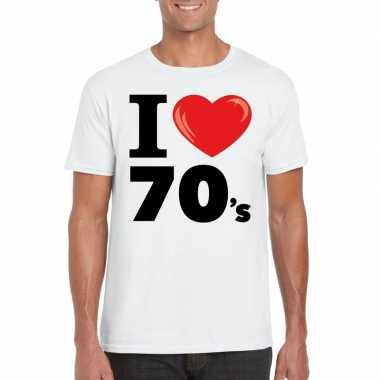 I love seventies t-shirt wit heren
