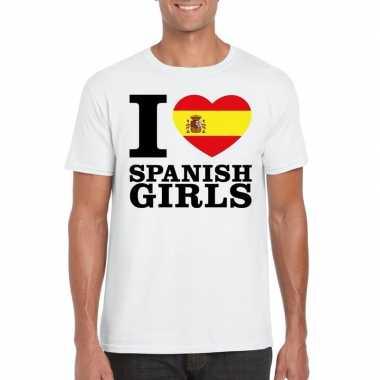 I love spanish girls vakantie t-shirt spanje heren
