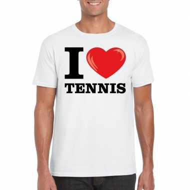 I love tennis t-shirt wit heren