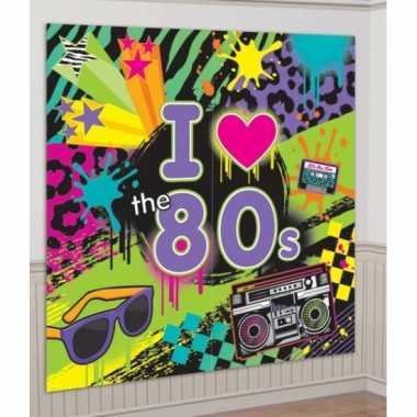 I love the eighties muurdecoratie