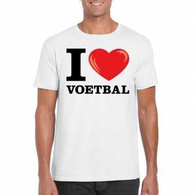 I love voetbal t-shirt wit heren