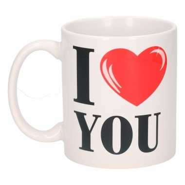 I love you cadeau beker 300 ml