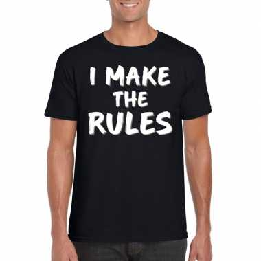 I make the rules tekst t-shirt zwart heren