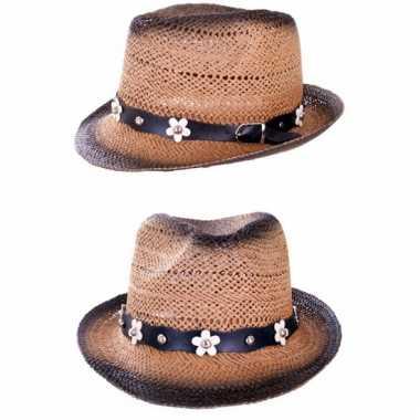 Ibiza hoed met bloemenriem