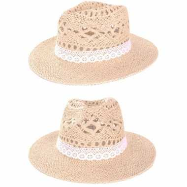 Ibiza style hoedje met kant
