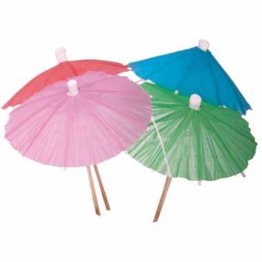 Ijs parasolletjes gekleurd 20 x