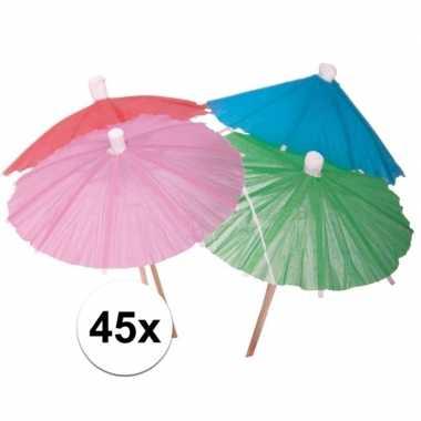 Ijs parasolletjes gekleurd 45 x