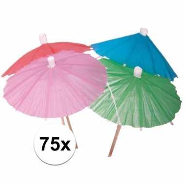 Ijs parasolletjes gekleurd 75 x