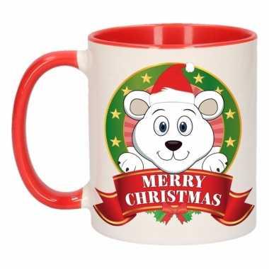 Ijsbeer melk mok / beker voor kerst 300 ml