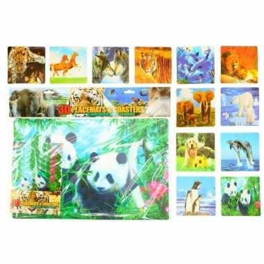 Ijsberen thema placemats en onderzetters
