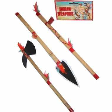 Indianen speelgoed bijl en speer