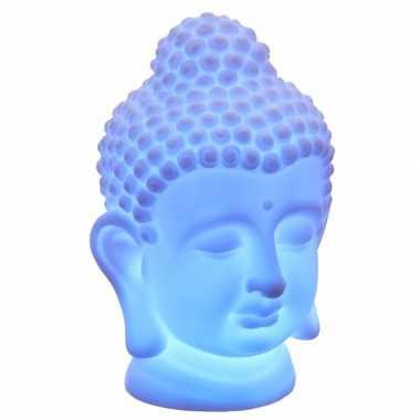 Indische boeddha tafellamp 18 cm