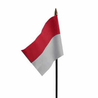 Indonesie luxe zwaaivlaggetje polyester