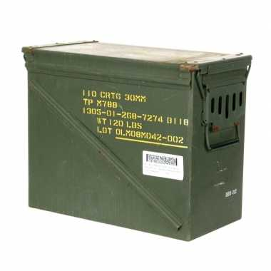 Industriele legerkist groen 45 cm