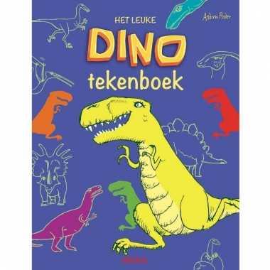 Informatie/tekenboek dinosaurussen 24 cm