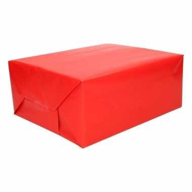 Inpakpapier fel rood 200 cm