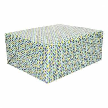 Inpakpapier gekleurde driehoekjes