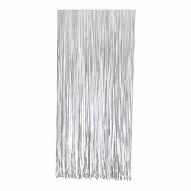Insecten/vliegen deurgordijn wit 230 cm