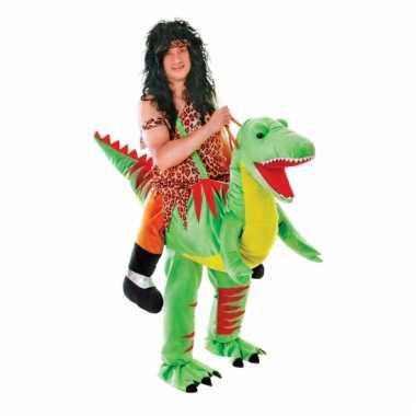 Instap dinosaurus kostuum voor volwassene
