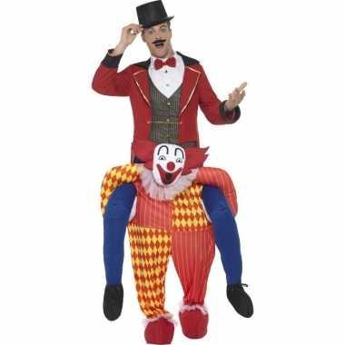 Instapkostuum circus clown voor volwassenen