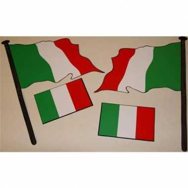 Italiaanse vlag sticker set