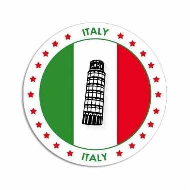 Italie vlag print bierviltjes