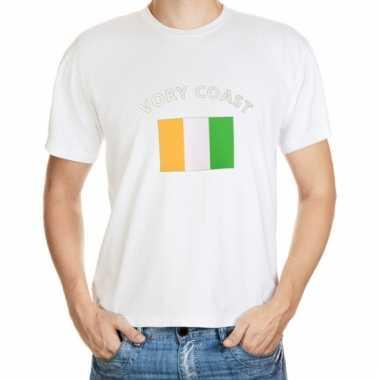 Ivory coast vlaggen t-shirts