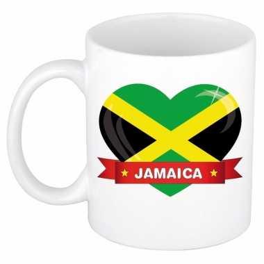 Jamaicaanse vlag hart mok / beker 300 ml