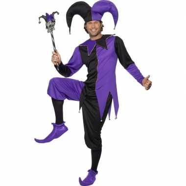Joker kostuum zwart/paars voor heren
