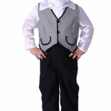 Jongens kostuum met vest en petje