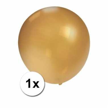 Jumbo ballon goud metallic 90 cm