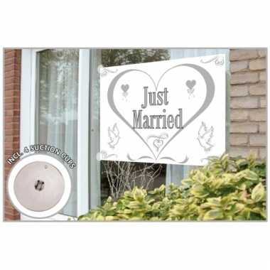 Just married vlag 150 x 100 cm