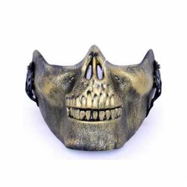Kaakmasker gouden schedel