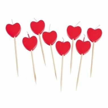 Kaars cocktailprikkers in hartvorm