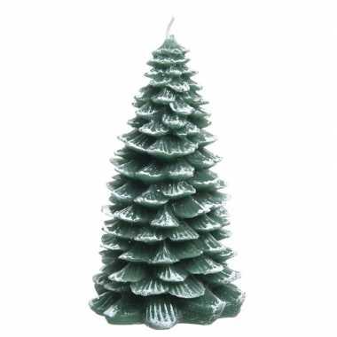 Kaars kerstboompje groen 23 cm