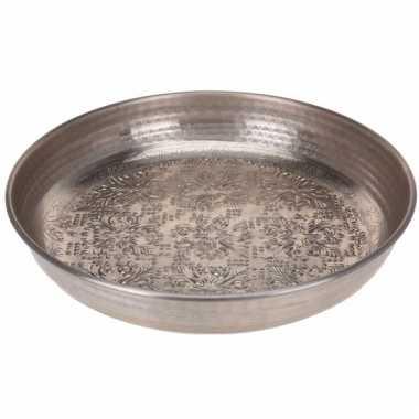 Kaarsen onderzet schaal zilver type 2