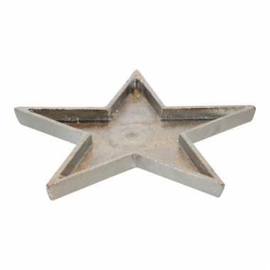 Kaarsenplateau ster van metaal 26cm