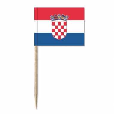 Kaasvlaggetjes kroatie 50 st