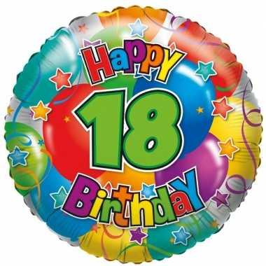 Kado ballon 18e verjaardag 35 cm
