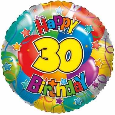 Kado ballon 30e verjaardag 35 cm
