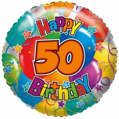 Kado ballon 50e verjaardag 35 cm
