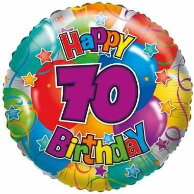 Kado ballon 70e verjaardag 35 cm
